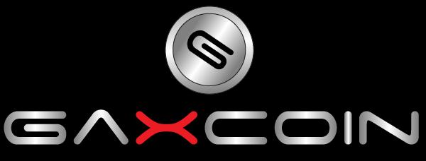 Logo Gaxcoin Definitivo sfondo nero
