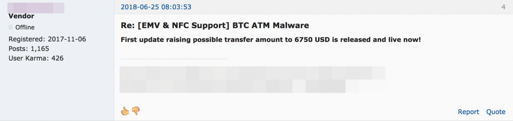 Bitcoin ATMs Targeted by Malware for Sale in Underground Markets
