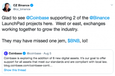 Coinbase Trolls Binance by Considering Support for Launchpad Projects But Not BNB 2