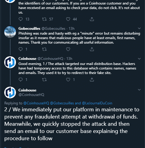 This French Exchange Has Become a Victim of Phishing Attack 1