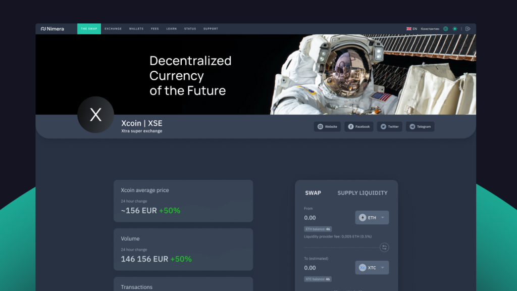 Nimera Swap Offers DeFi Exchange Platform With Low Fees and Support for Any Blockchain