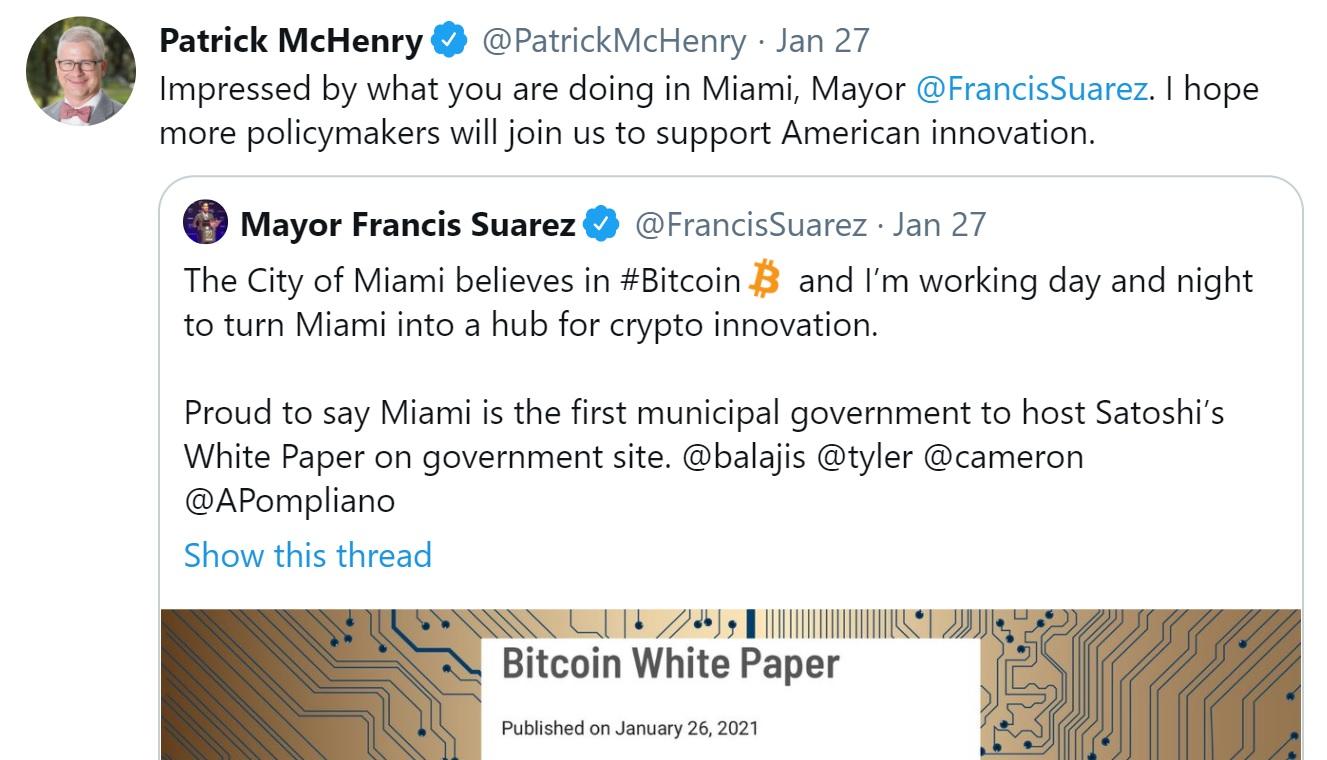 mchenry tweet