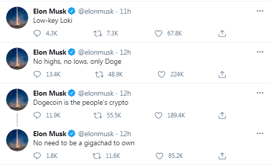 Doge Token Pumps After Elon Musk Tweets 'Dogecoin Is the People's Crypto'