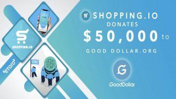 crypto e commerce giant shopping io supports etoro social impact non profit gooddollar 768x432 1